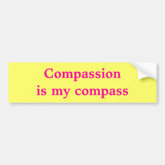 Compassion Is My Compass Bumper Sticker