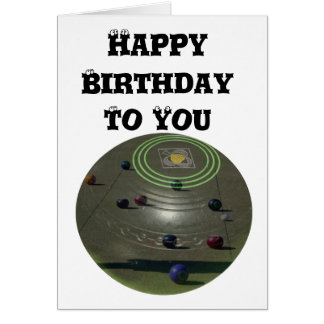 Competition Lawn Bowl, Birthday Logo Card