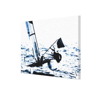 Competition Sailing Catamaran Picture Canvas Print