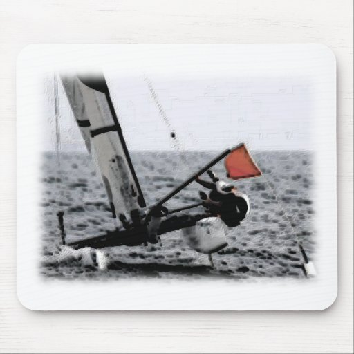 Competition Sailing Catamaran Picture Mousepads