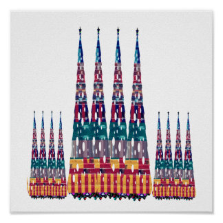 Competition Tallest Building Smallest HUMAN NVN592 Poster