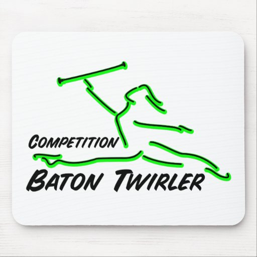 Competition Twirler Mouse Pads