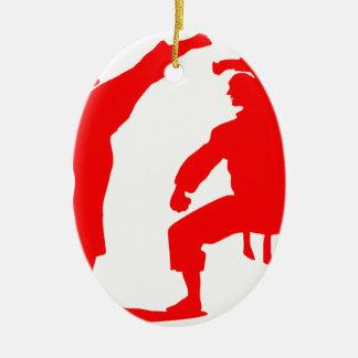 Competitive athlete-talk ceramic oval ornament