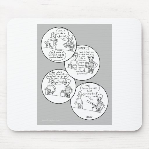 Competitive Dovetailers Cartoon Mousepad