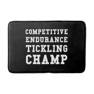 Competitive Endurance Tickling Champ Bathroom Mat