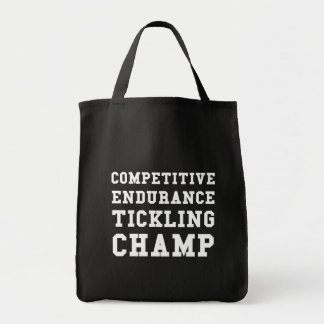 Competitive Endurance Tickling Champ Tote Bag