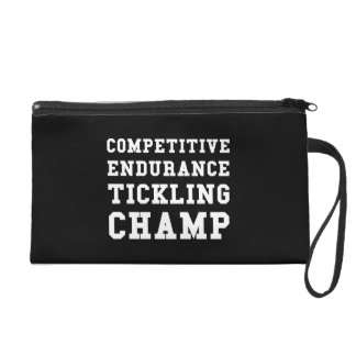 Competitive Endurance Tickling Champ Wristlet