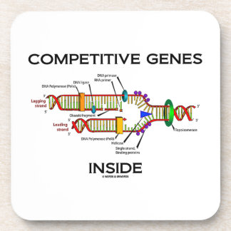 Competitive Genes Inside (DNA Replication) Drink Coasters