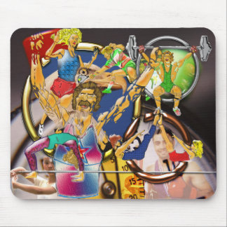 Competitive Sports Art and Photography Collage Mouse Pad