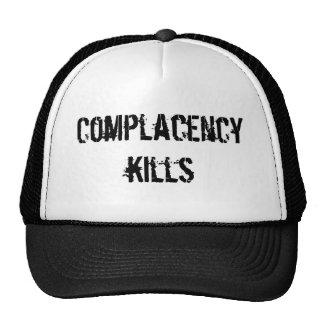 complacency kills trucker hat