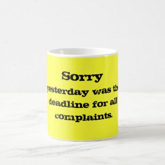 Complaints Mug