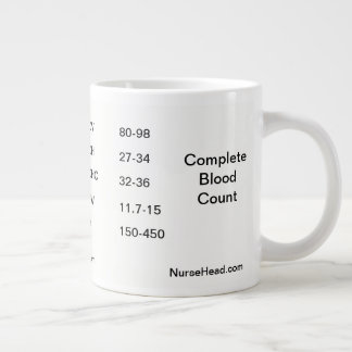 Complete Blood Count Large Coffee Mug