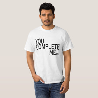 complete me anti valentine funny shirt .