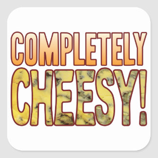 Completely Blue Cheesy Square Sticker