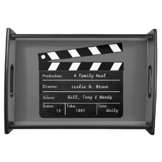 Completely Customizable Clapperboard Serving Platters