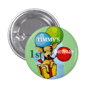 Completely Customizable Cute Puppy Party Button