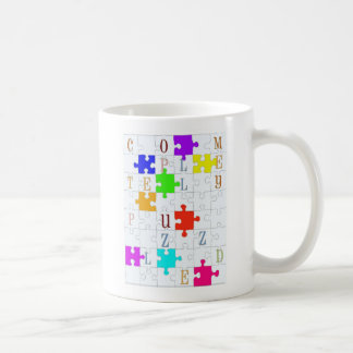 """Completely Puzzled"" Puzzle Lover's Coffee Mug"