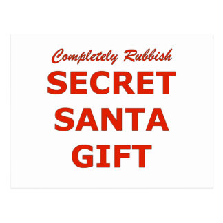 Completely Rubbish Secret Santa Gift Postcard