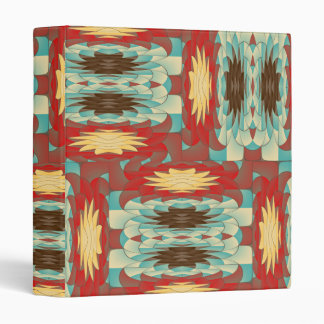 Complex colorful pattern 3 ring binders