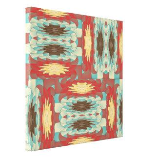 Complex colorful pattern canvas print