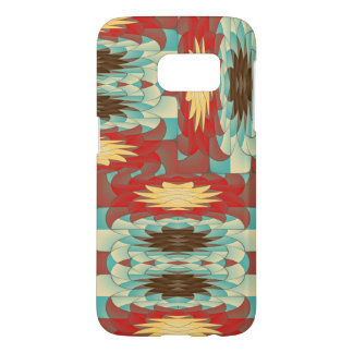 Complex colorful pattern samsung galaxy s7 case