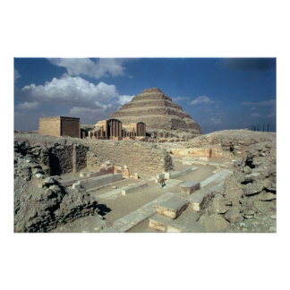 Complex of Djoser including the Step Pyramid Poster