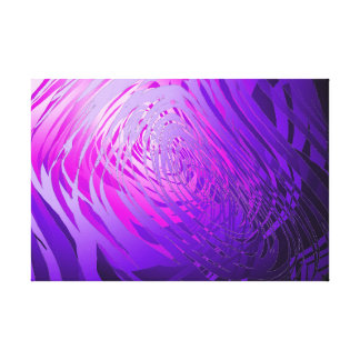 Complex Purple Spiral - Canvas Print
