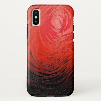 Complex Spiral2  Red - Apple iPhone X Case