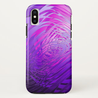 Complex Spiral Purple - Apple iPhone X Case