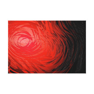 Complex Spiral Red - Canvas Print