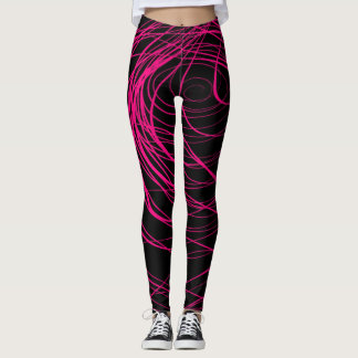 Complex Swirling Pink - Leggings