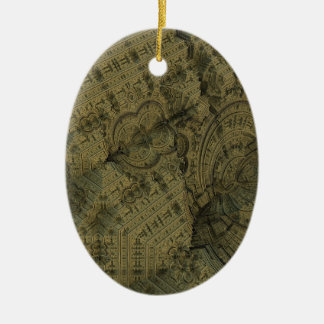 Complexity Ceramic Oval Ornament