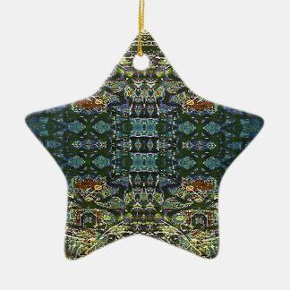 Complexity Grid Ceramic Star Ornament