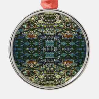 Complexity Grid Silver-Colored Round Ornament