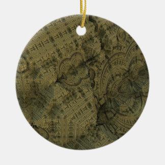 Complexity Round Ceramic Ornament