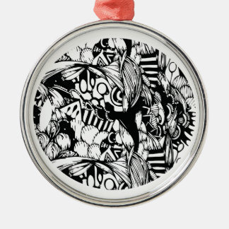 Complexity Silver-Colored Round Ornament