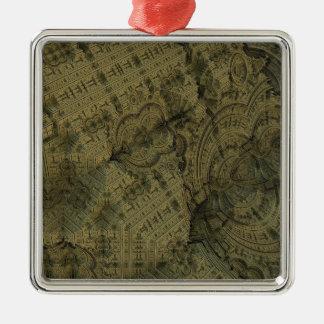 Complexity Silver-Colored Square Ornament