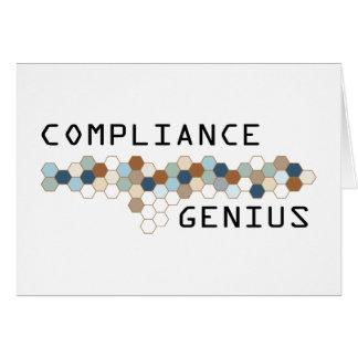 Compliance Genius Greeting Card