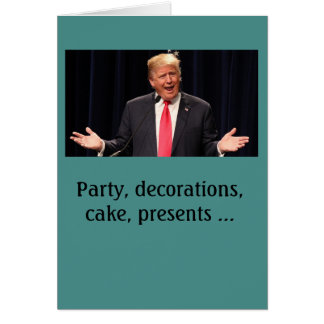 """Complicated"" Donald Trump birthday card"