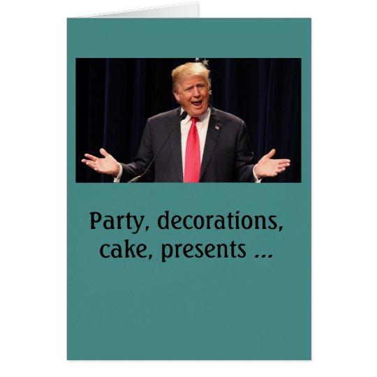 """Complicated"" Donald Trump birthday card"