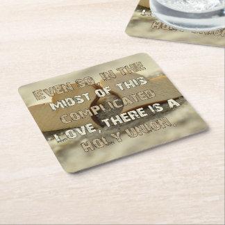 Complicated Love Square Paper Coaster
