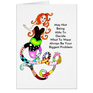 Complicated Mermaid Friendship Greeting Card