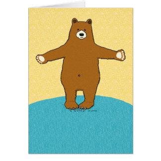 Complimentary Bear Hug Anniversary Greeting Card