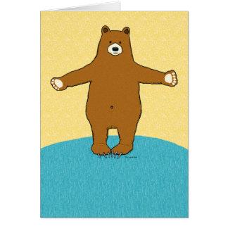 Complimentary Bear Hug Birthday Greeting Card