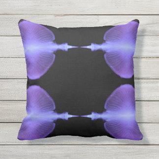 Complimentary Jellyfish Artistic  Designs Throw Pillow