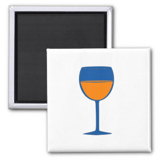Complimentary Wine Magnet - Blue Orange