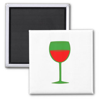 Complimentary Wine Magnet - Green Red