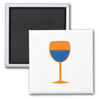 Complimentary Wine Magnet - Orange Blue