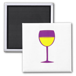 Complimentary Wine Magnet - Purple and Yellow
