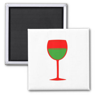Complimentary Wine Magnet - Red Green